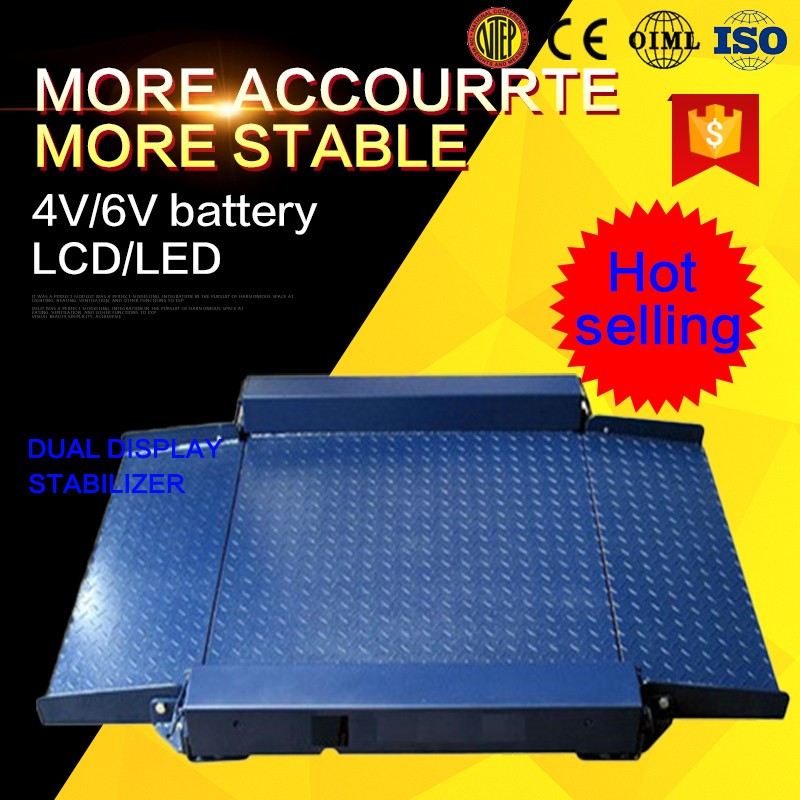 Electronic industry movable floor and pallet scale