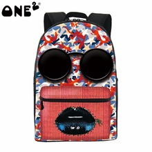 ONE2 design masquerading cool colorful girls school bags trendy backpack for teenager students