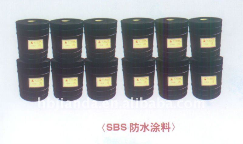 SBS cold base oil and waterproof roofing coating