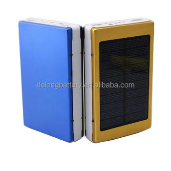 rechargeable 10000mah solar battery charger mobile portable power bank