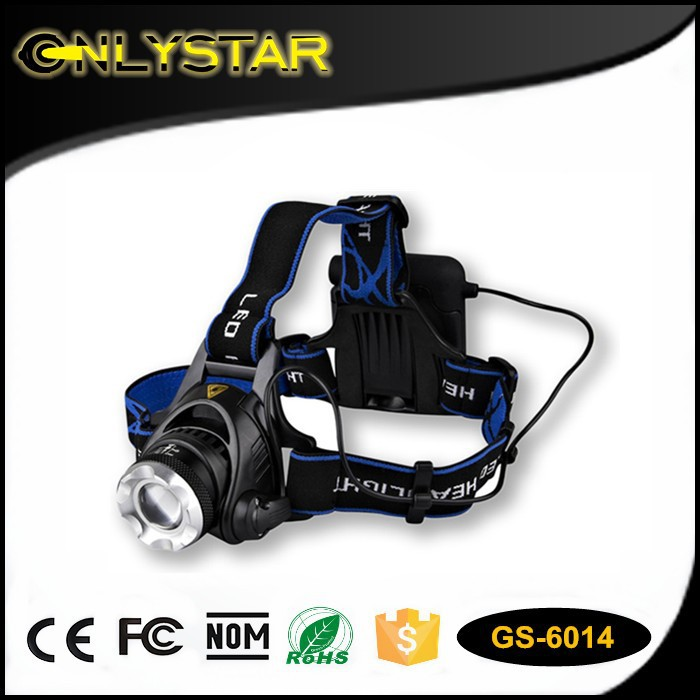 high power led car headlight, battery powered led headlight, rechargeable bicycle headlight head flashlight