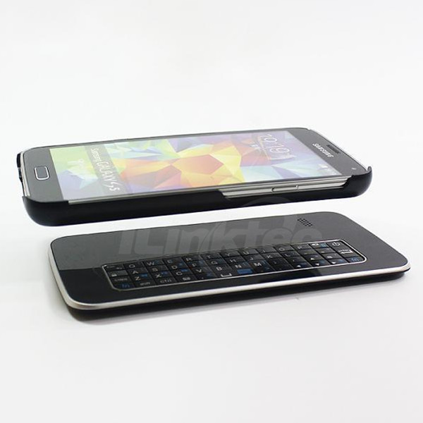 Mini Magnetic removable sliding keyboard case Bluetooth wireless split keyboard for samsung galaxy s5