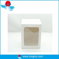 Elected White Cardboard Carton with PVC Square Window