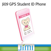 Student ID Card gps tracking mobile phone with Special numbers for SOS emergency fast-dial and 2.4 GHz RFID for student attenda