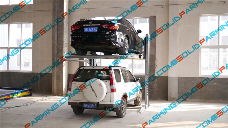 CE process 100% Laser Cutting Process Vertical photocell sensor Hydraulic Car Parking Smart Double parking car lift
