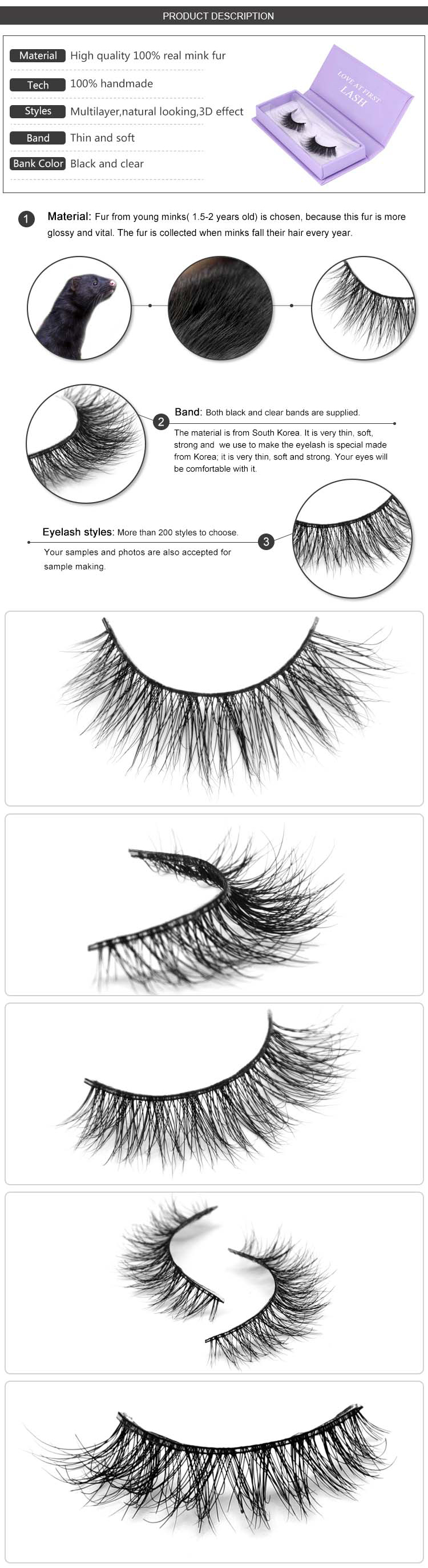 8d1ffc250c0 ... Mink Own Brand Lashes Wholesale Fashion 3d Silk Lashes Private Label