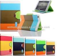 For iPad mini colorful leather case cover, Fashion leather case cover for iPad