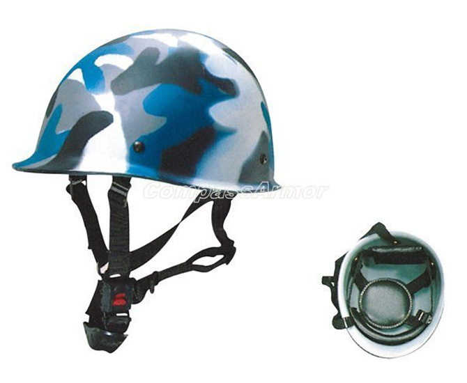 Riot Control Equipment Camouflage Blue Army Combat Helmet with PC / AS