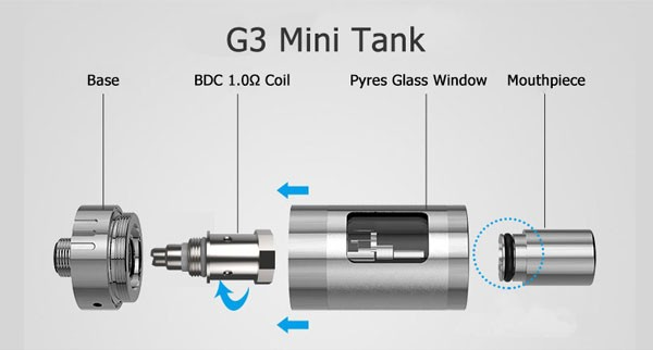 900mAh Low Ristance Lss G3 Mini Vapor Kit e cigarette sale