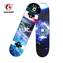 Pro Quality Chinese Maple Double Kick Complete Skateboard With Customized Printing Twelve Constellations