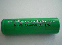 Most safety children protection design Ni-MH AAA 650mAh 1.2V battery on sale 2016