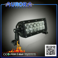 2014 hot sell AURORA 6 inch double row 60W off road led driving light bar