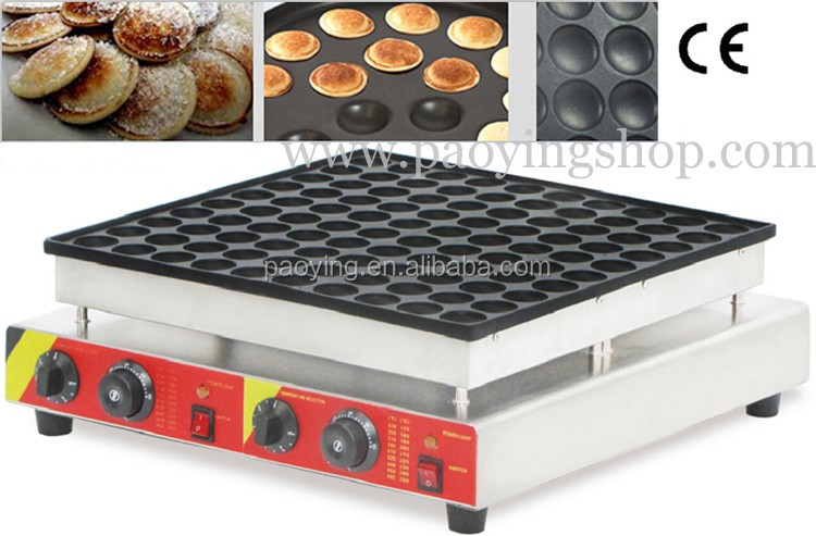 100pcs Commercial Use Non-stick 110v 220v Electric Mini Dutch Pancake Poffertje <strong>Machine</strong>