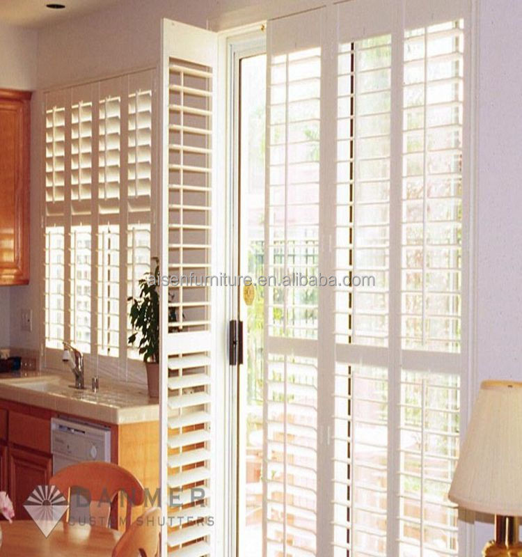 Unique Interior Bi-fold Window Shutters for Living Room