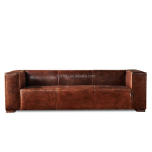 Latest design hotal lobby used sectional sofa set designs leather antique sofa