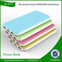 HC-QC01 Super fast charge 10000mah portable mobile power bank,portable powerbank,portable charger