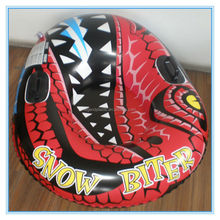 Inflatable winter sledge, folding push snow sled