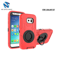 Stand Holder Armor Silicone + PC Premium Shockproof Hybrid Design Hard Phone Cases For Samsung S7