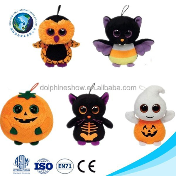 Various halloween plsuh toy stuffed plush owl halloween pumpkin plush bat ghost toy soft stuffed plush halloween gift