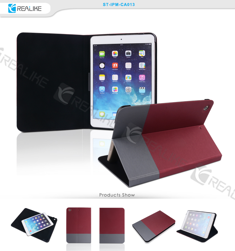 Comvenient stand smart leather cover for ipad mini 3
