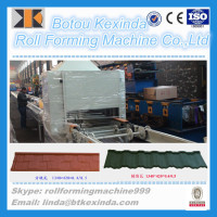 High quality stone coated metal roofing tiles machine