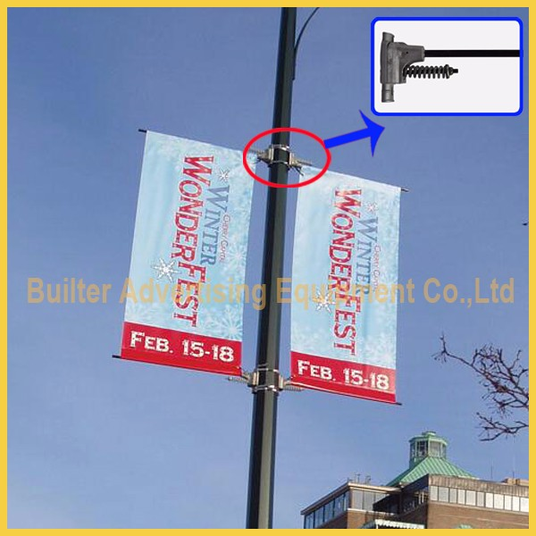 light pole flag/street sign hanging system for pole banner