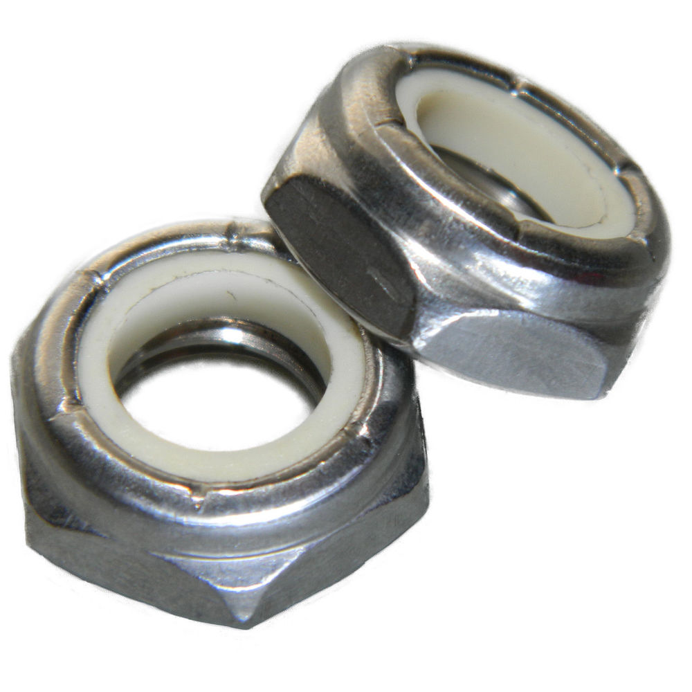 100 1//4-28 Nylon Insert Lock Nut Thin Jam Half thick NTE Series Fine Thread