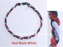 Germanium&Titanium baseball sports necklace 3 ropes