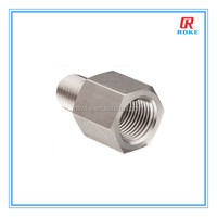 NPT male&female threaded stainless steel hexagon pipe adapter