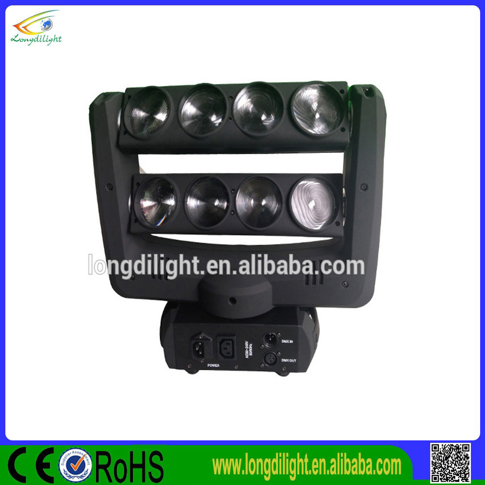 LED Pixel Linear 8Eyes Beam Moving Head White Color 8*10W Moving Head Bars LED Spider Lights