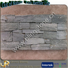 Metal mesh back natural slate schist stone