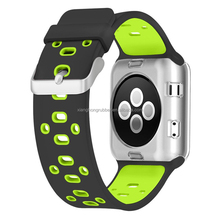 New Arrival 2017 Sport Silicone Quick Release Watch Band Rubber Watch Strap For Apple Watch Band