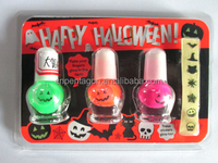 2015 hot sale nail varnish and glow in dard sticker halloween gifts set