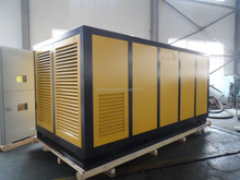 185KW direct driven rotary screw air compressor with water cooling