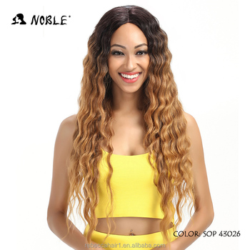 Wholesale Lace Front Wigs 30 Inch Long Synthetic Curly Wig For Black Women Blonde Wig Synthetic
