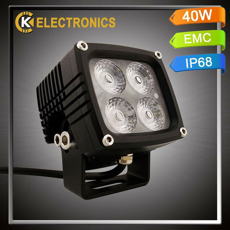 high quality factory price motorcycle accessories 6063 aluminum square auto parts utv lw led working light