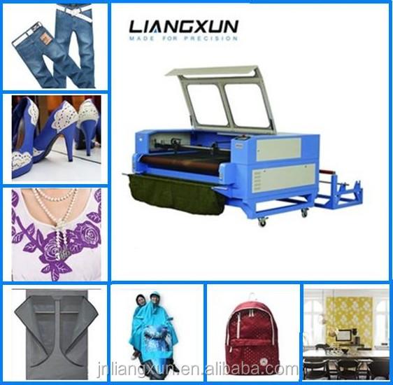co2 automatic laser cutting machine for the car chair affixed cloth embroidery/special-shaped trademarks/airbags cut