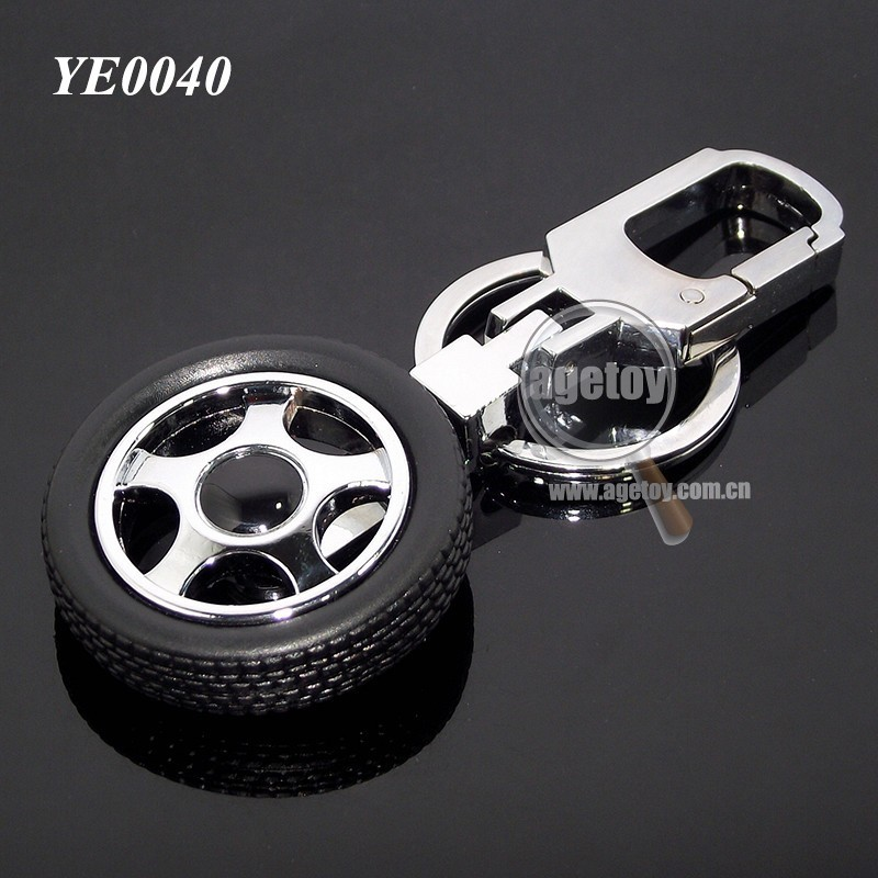 Promotional Mini 3D Tyre Shaped Rotating Metal Rubber Car Tyre <strong>Gifts</strong>