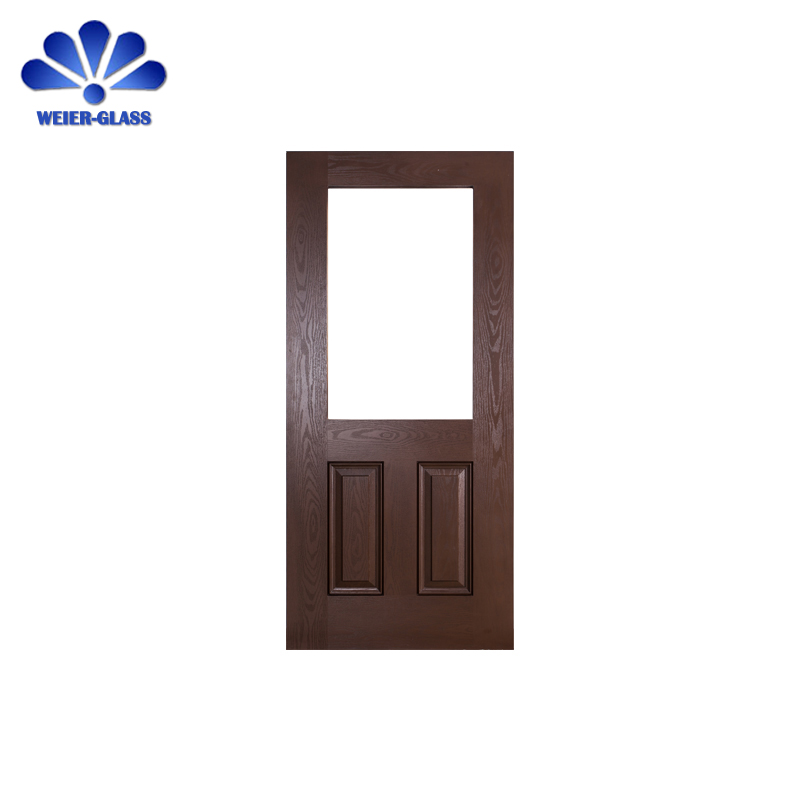 Newstyle wood exterior fiberglass doors with glass