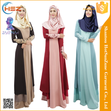 Zakiyyah 021 Newest Design Long Sleeves Elegant Style Islamic Clothing Indian for Women Wholesale Dubai Abaya Islamic Clothing