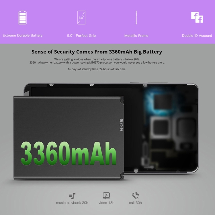 DOOGEE X10 512MB+8GB mobile phone popular style hot sale full screen 3g 4g 5g smart phone