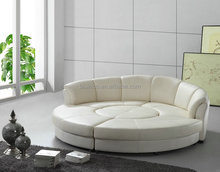 Modern Genuine Leather Round Bed, Genuine Leather Round Sofa Bed