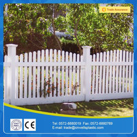 pvc composite picket fencing