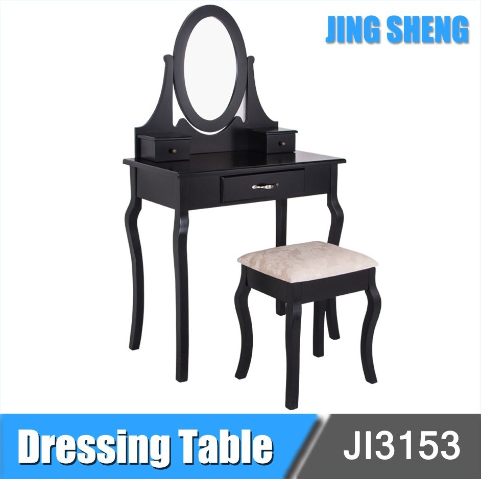 Cheap Price New Simple Designs Modern Bedroom Dresser Furniture Wooden Mirrored Dressing Table