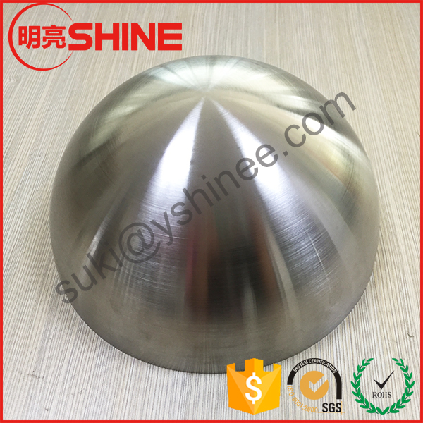 home decoration brushed stainless steel hemisphere slip subway escalator half balls