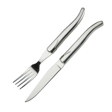 Stainless steel Laguiole knife and fork laguiole style flatware