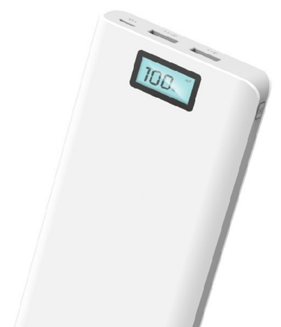 20000mAh Aluminium Portable Led display power bank