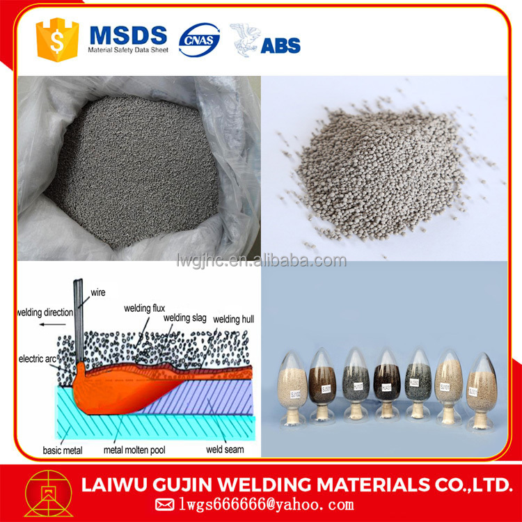 China aluminum submerged arc welding flux sj112 match F308L wires with smooth bead weld