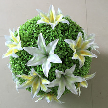 Decorative artificial grass ball stock mixed sizes for wedding party hotel decoration