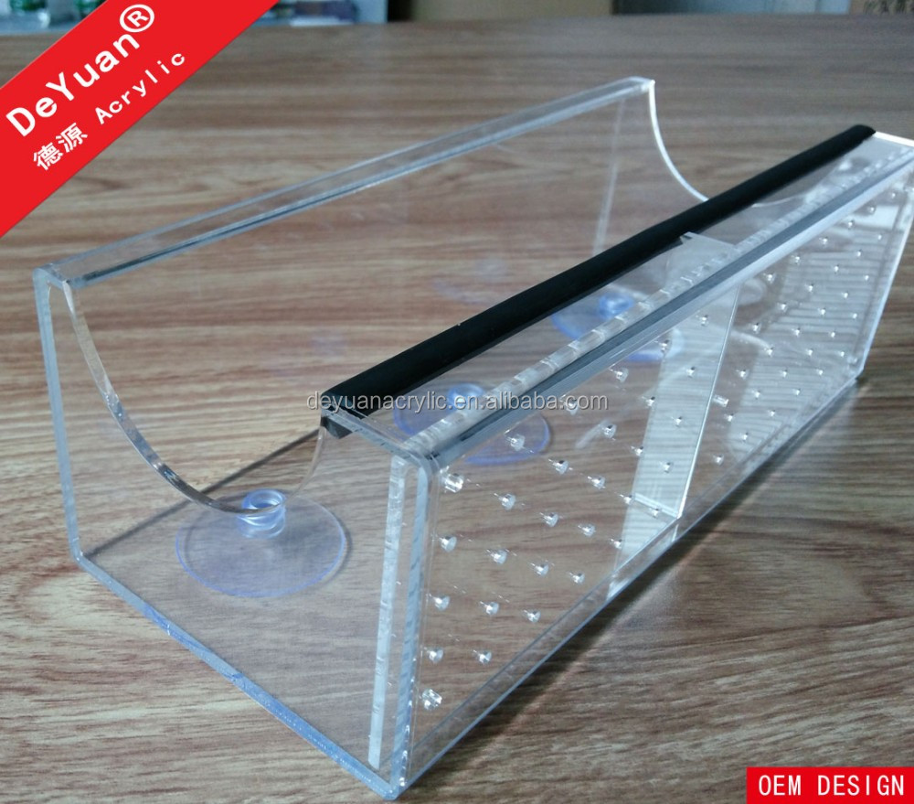 Wall Mounted Clear Acrylic Bird Feeder with Hooks